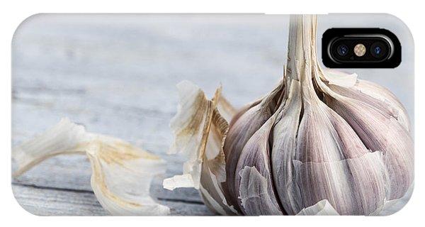 Food iPhone Case - Garlic by Nailia Schwarz