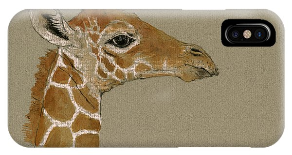 Giraffe Head Study  IPhone Case