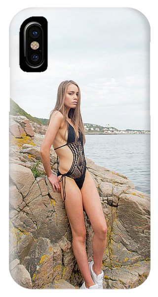 Girl In Black Swimsuit IPhone Case