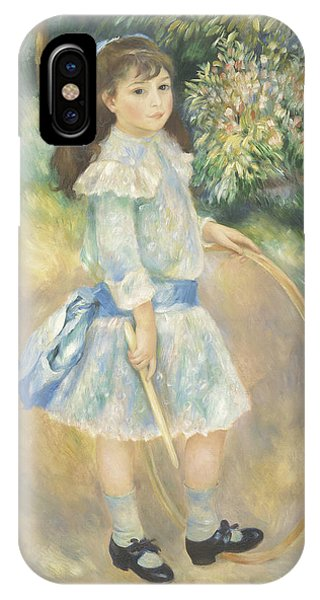 Youthful iPhone Case - Girl With A Hoop by Pierre Auguste Renoir