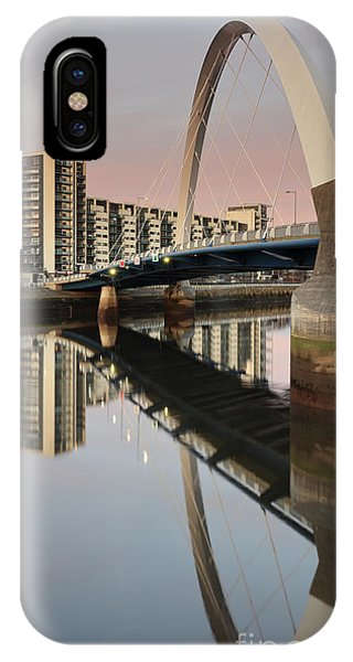 Glasgow Clyde Arc Bridge At Sunset IPhone Case