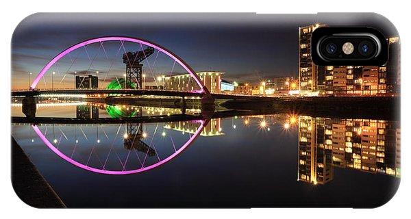 Glasgow Clyde Arc Bridge At Twilight IPhone Case