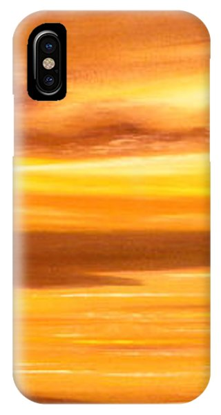 Golden Panoramic Sunset IPhone Case