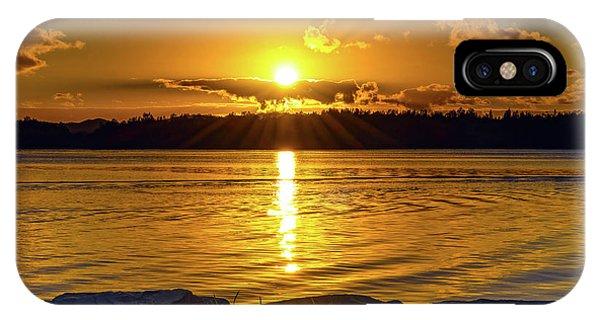 Golden Sunrise Waterscape IPhone Case
