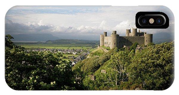 Harlech Castle, Snowdonia, Gwynedd, North Wales, Uk IPhone Case