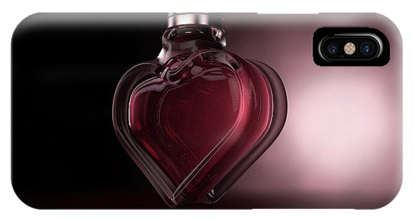 Perfume Bottles iPhone Case - Heart Shaped Perfume by Allan Swart