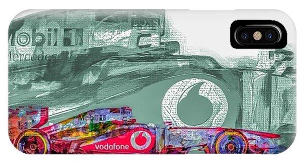 Autos iPhone Case - #helmuth #mariokart @team_penske by David Haskett II