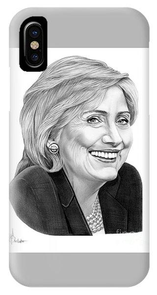 Hillary Clinton iPhone Case - Hillary Clinton by Murphy Elliott