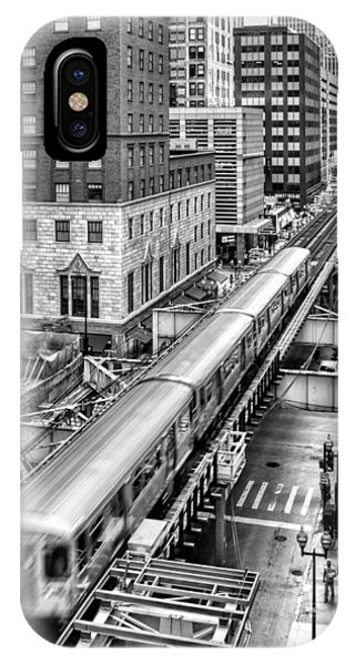 Historic Chicago El Train Black And White IPhone Case