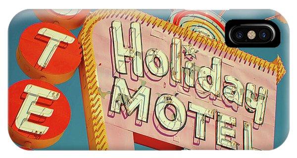 Las Vegas iPhone X Case - Holiday Motel, Las Vegas by Jim Zahniser