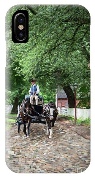 Horse Drawn Wagon IPhone Case