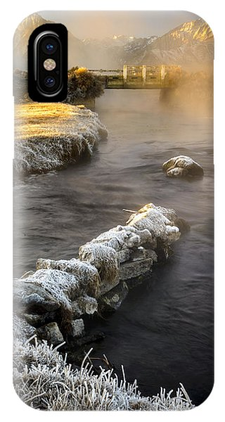 Hot Creek In Winter IPhone Case