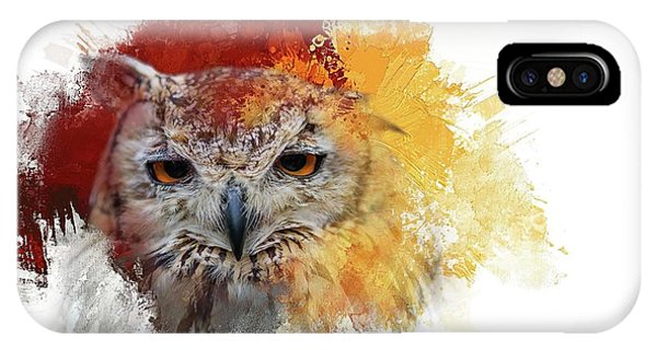 Indian Eagle-owl IPhone Case