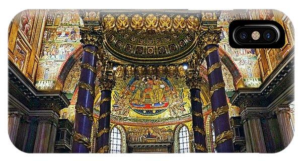 Interior View Of The Basilica Di Santa Maria Maggiore In Rome Italy IPhone Case