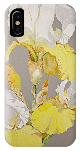IPhone Case featuring the painting Irises-posthumously Presented Paintings Of Sachi Spohn  by Cliff Spohn