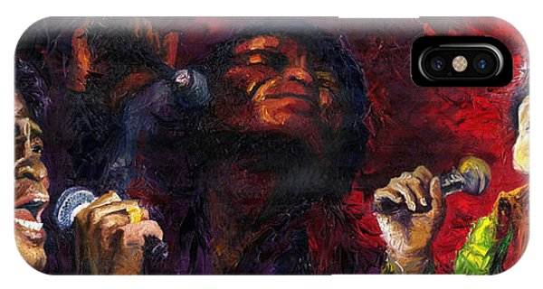 Legends Music iPhone Case - Jazz James Brown by Yuriy Shevchuk