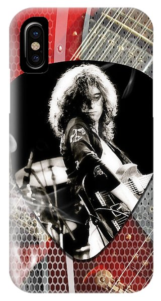Rock And Roll Jimmy Page iPhone Case - Jimmy Page Art by Marvin Blaine
