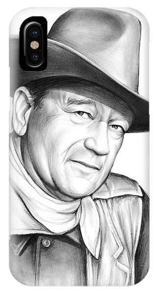 University iPhone Case - John Wayne by Greg Joens