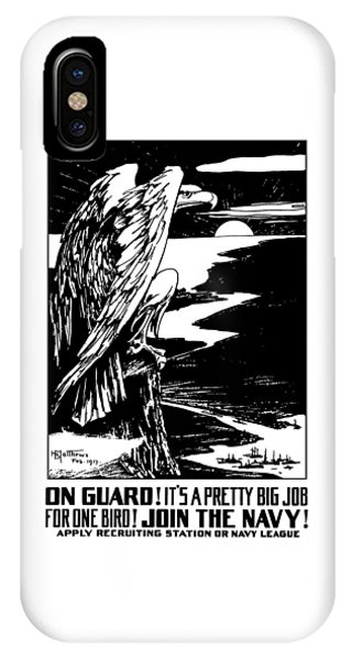 Wwi iPhone Case - On Guard - Join The Navy by War Is Hell Store