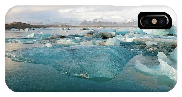 Jokulsarlon The Glacier Lagoon, Iceland 2 IPhone Case