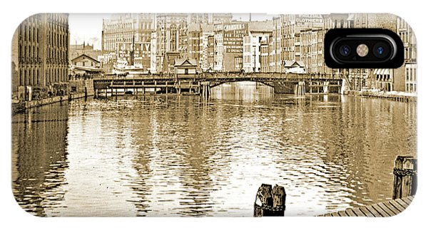 Kilbourn Avenue Bridge, Milwaukee River, C.1915, Vintage Photogr IPhone Case