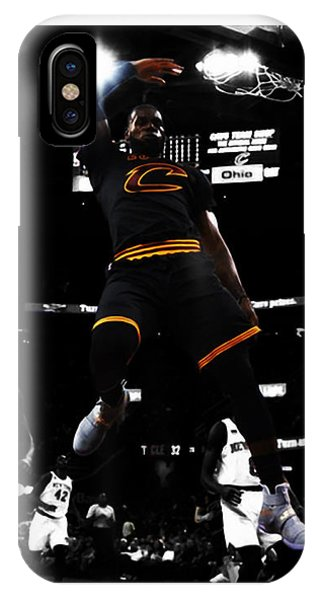 Kyrie Irving iPhone Case - King James by Brian Reaves