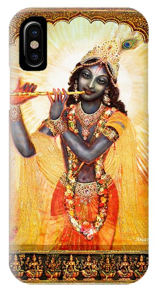 Krishna With The Flute  Phone Case by Ananda Vdovic