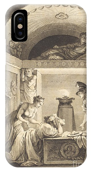 iPhone Case - La Matrone D'ephese by Jean-louis Delignon And Antoine-jean Duclos After Jean-honor? Fragonard