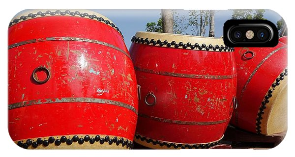 IPhone Case featuring the photograph Large Chinese Drums by Yali Shi
