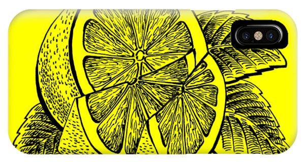 Lid iPhone Case - Lemon by Irina Sztukowski