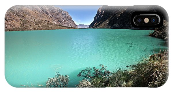 Llanganuco Lakes IPhone Case