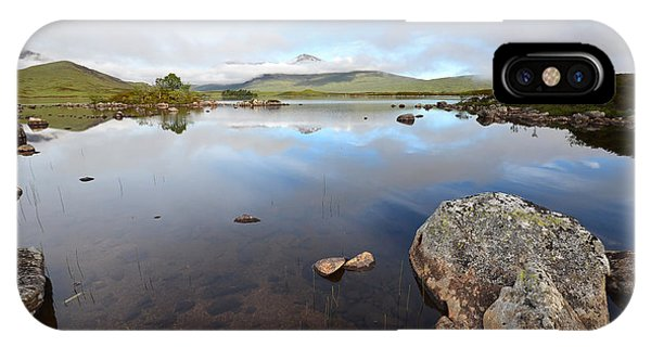 Moor iPhone Case - Loch Nah Achlaise by Smart Aviation