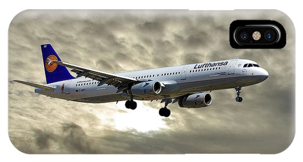 Jet iPhone Case - Lufthansa Airbus A321-131 by Smart Aviation