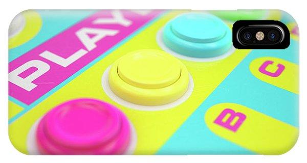 Luminous iPhone Case - Luminous Arcade Control Panel  by Allan Swart