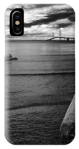 Mackinac Bridge - Infrared 01 IPhone Case