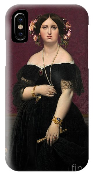 1851 iPhone X Case - Madame Moitessier by Jean Auguste Dominique Ingres