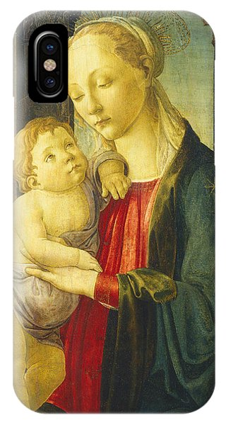 Botticelli iPhone Case - Madonna And Child by Sandro Botticelli