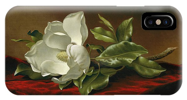 Humming Bird iPhone Case - Magnolia  by Martin Johnson Heade