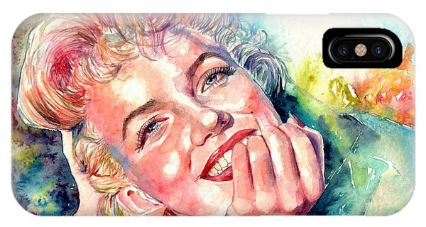 Fauvism iPhone Case - Marilyn Monroe Portrait by Suzann Sines