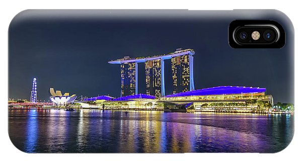 Marina Bay Sands And The Artscience Museum In Singapore IPhone Case