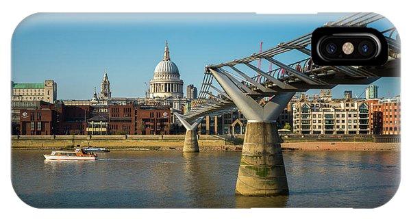 IPhone Case featuring the photograph Millennium Bridge by Stewart Marsden