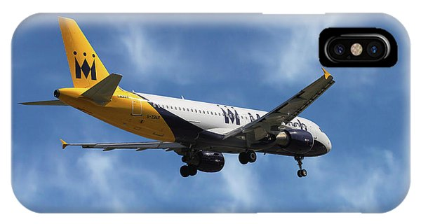 Monarch iPhone Case - Monarch Airlines Airbus A320-214 by Smart Aviation