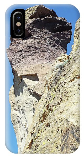 IPhone Case featuring the digital art Monkey Face Rock - Smith Rock National Park by Joseph Hendrix