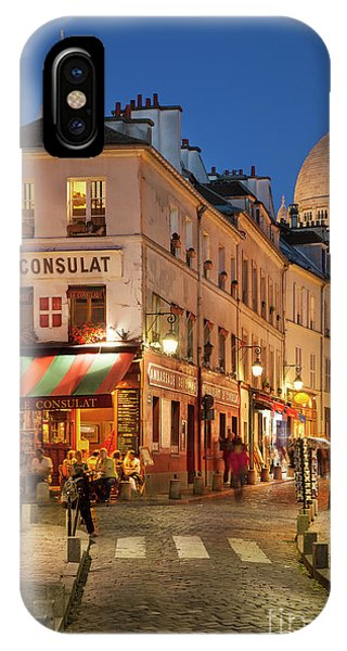 IPhone Case featuring the photograph Montmartre Twilight by Brian Jannsen