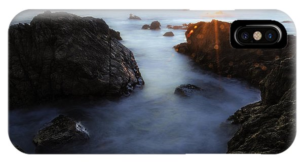 Moss Beach Sunset IPhone Case