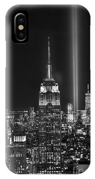 City iPhone Case - New York City Tribute In Lights Empire State Building Manhattan At Night Nyc by Jon Holiday