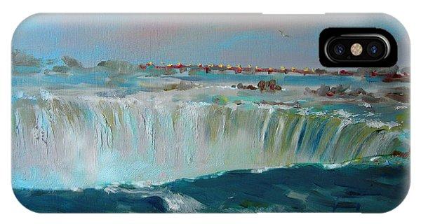 Waterfall iPhone Case - Niagara Falls by Ylli Haruni