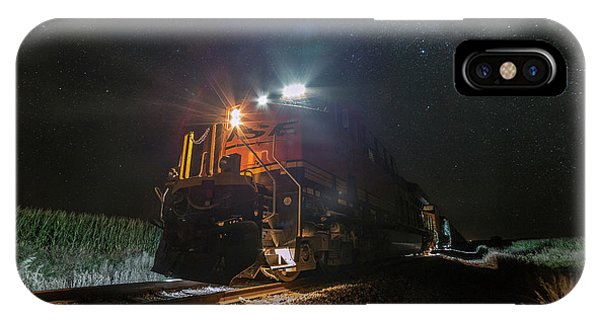 Middle Of Nowhere iPhone Case - Night Train  by Aaron J Groen