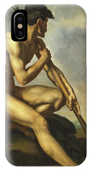Barren iPhone Case - Nude Warrior With A Spear by Theodore Gericault