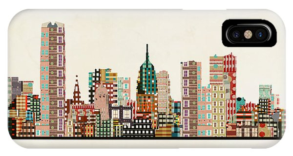 Oklahoma iPhone Case - Oklahoma City Skyline by Bri Buckley